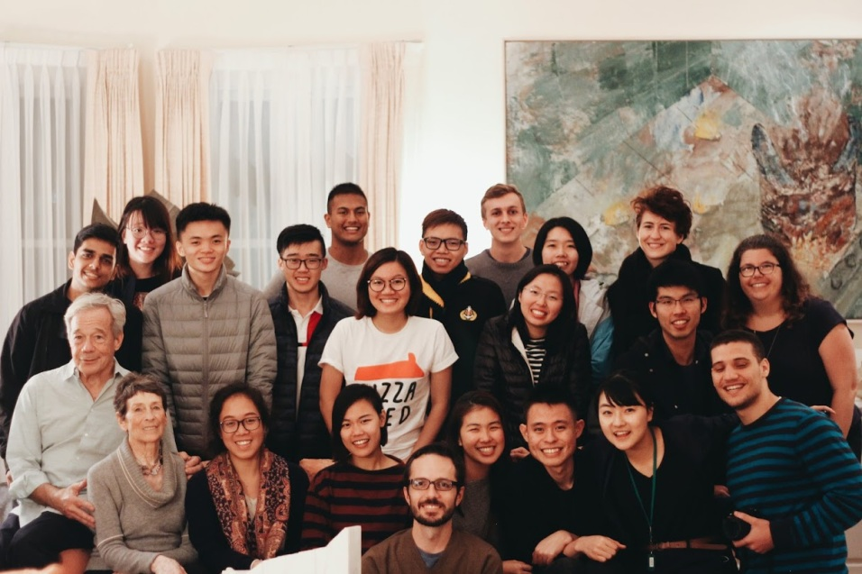 With students in San Francisco