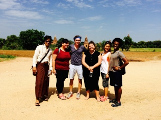 With student affairs staff in Myanmar