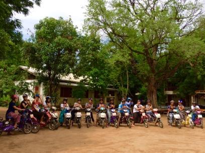 Biking around Bagan